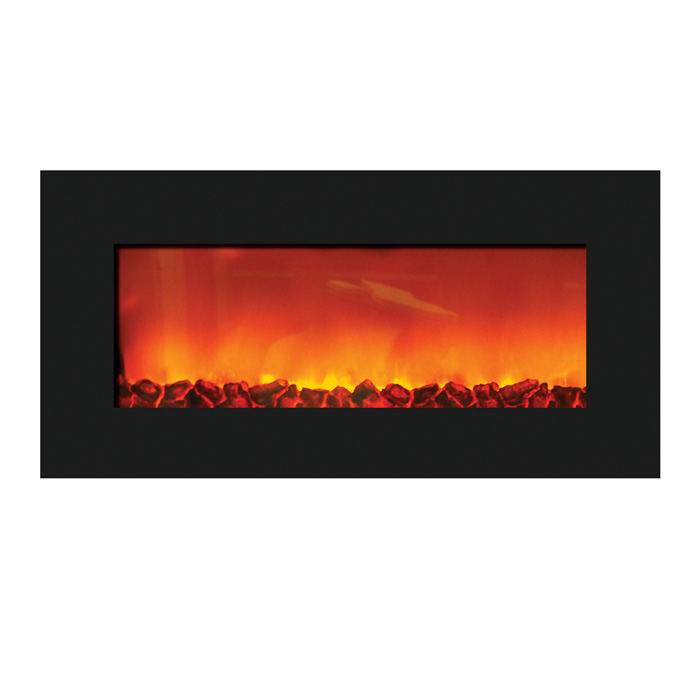 flame wm slim 36 wall mount zero clearance electric fireplace