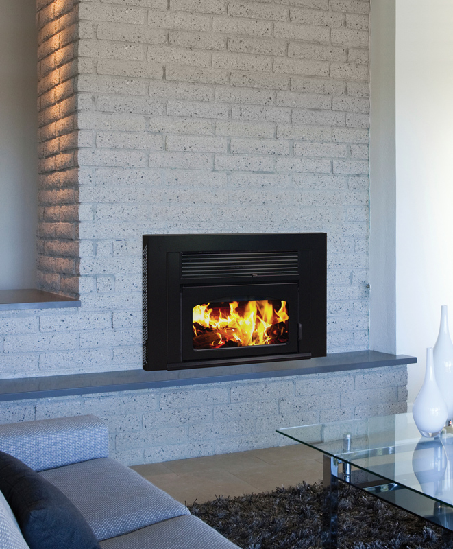 Supreme Fireplaces The Volcano Wood Insert Canned Heat
