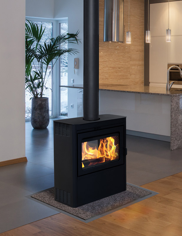 Supreme Fireplaces The Vision See Through Freestanding