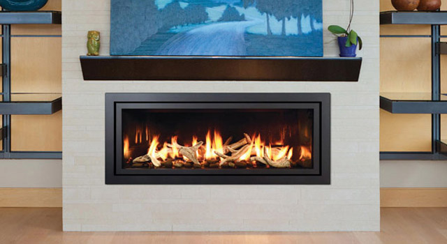 Modern Linear Gas Fireplace