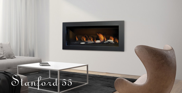 Sierra Flame – The Stanford 55 – Direct Vent Linear Gas Fireplace