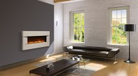 concrete surround electric fireplace