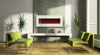 steel surround electric fireplaces by Amantii
