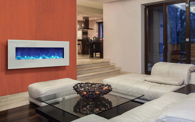 Amantii electric fireplace fire and ice