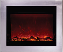 Steel Overlays electric fireplaces