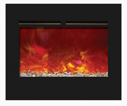 flushmount zero clearance electric fireplace