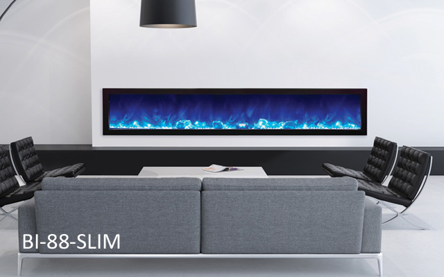 Amantii electric fireplaces - 88 inches wide