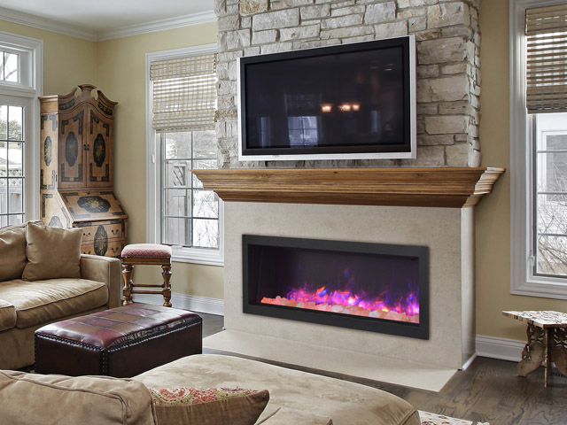 Sierra Flame electric fireplace - indoor or outdoor