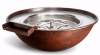HPC copper fire and water bowl